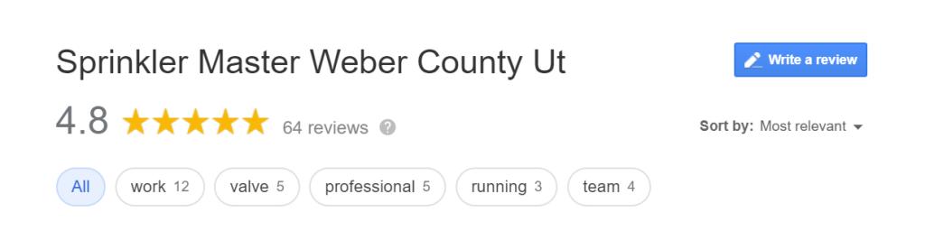 Sprinkler Master Weber County Sweet Reviews